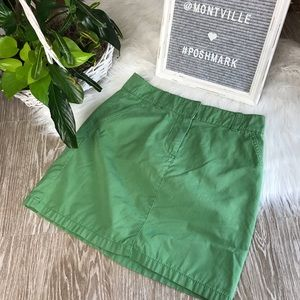 J Crew Green Size 0 Cotton Mini Skirt